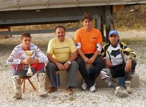 Intre prieteni, de la stanga la dreapta, Adrian Raduta, Ilie Raduta, Catalin Corbea, Ciprian Popescu
